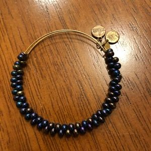 Alex and Ani blue bead bracelet